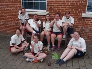 Melton girls celebrate with cake!