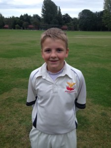 U13s Captain, Thomas Moye, after his Maiden Half-Century